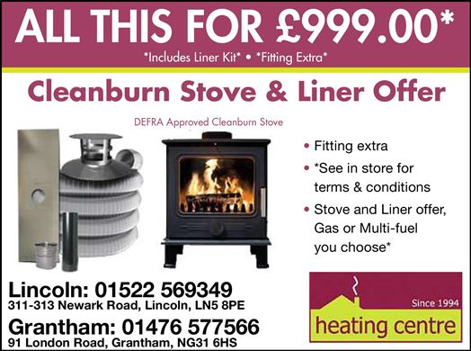 Cleanburn Stove & Liner Offer